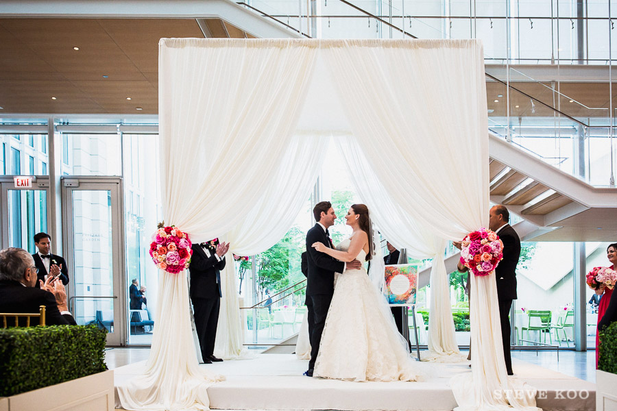 Modern Wing of the Art Institute wedding Ceremony