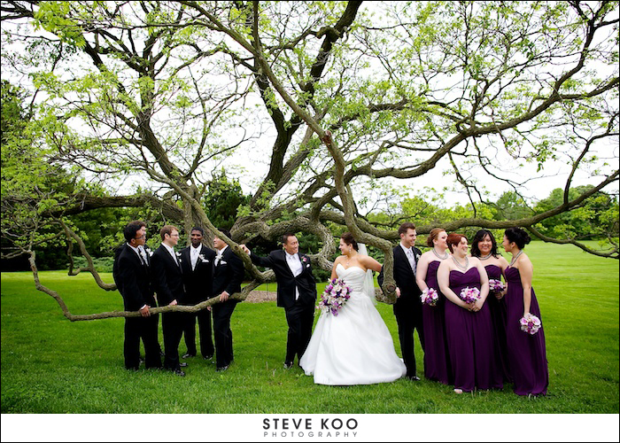 Morton Arboretum Wedding Photo