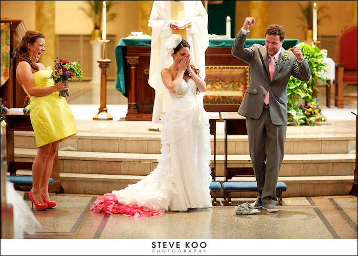 Chicago Wedding Photojournalist Funny Ceremony