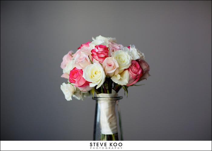 pink white wedding bouquet