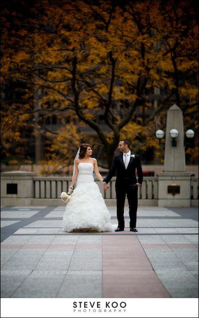 fall chicago wedding photos