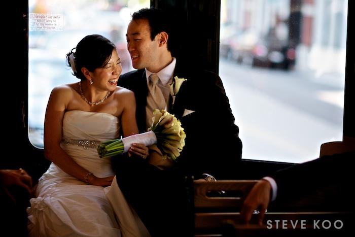 bride-groom-trolley-ride