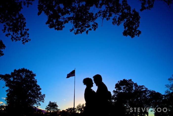sunset-flag-wedding-photo