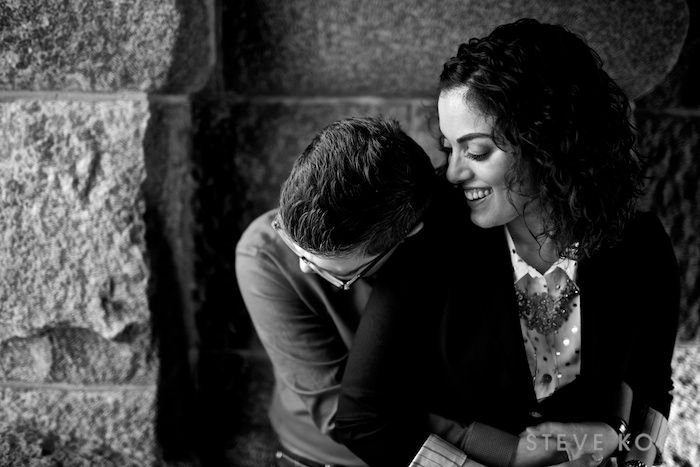 black-white-engagement-photos