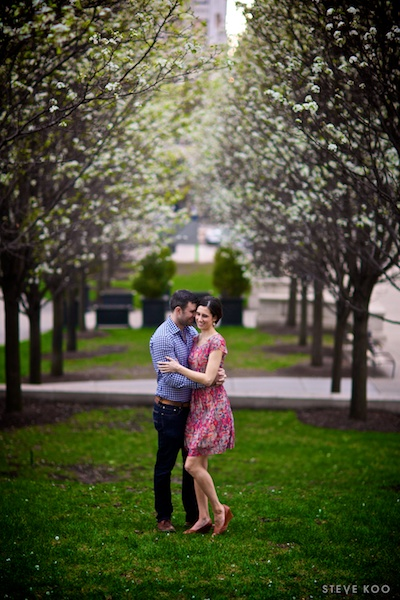 spring-engagement-photos-downtown-chicago
