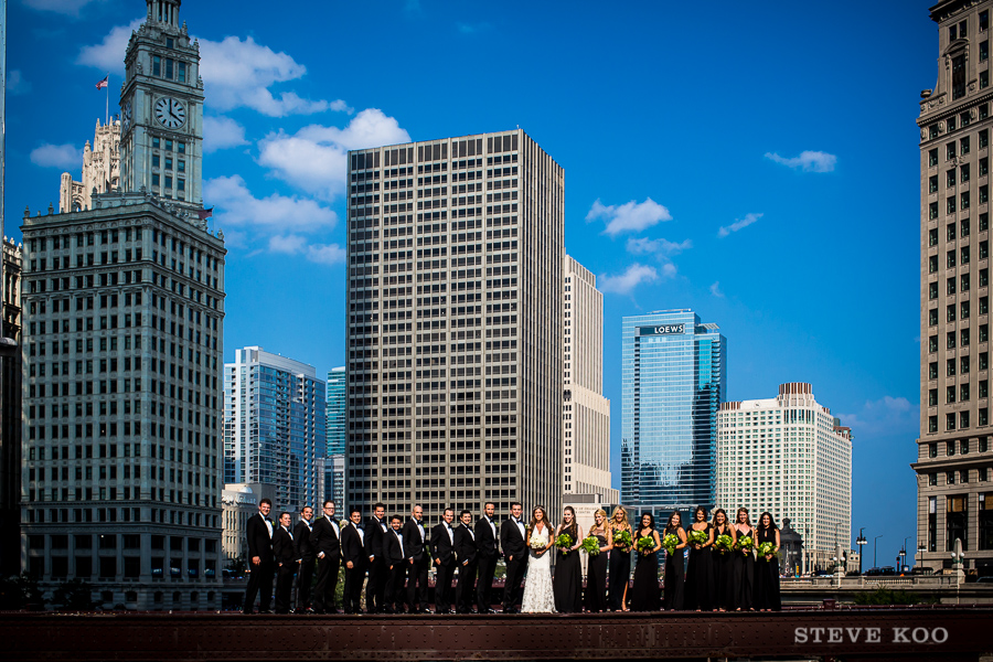 chicago-bridge-wedding-party